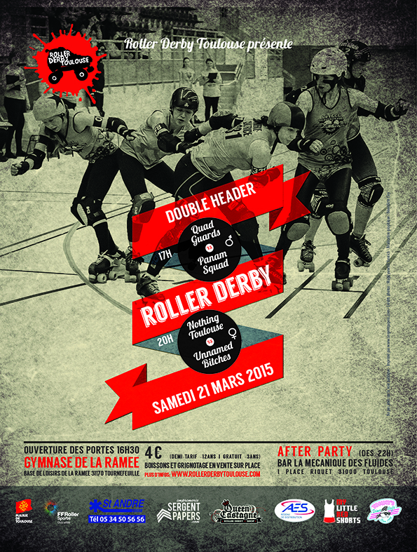Matchs de Roller Derby : Quad Guards vs Panam Squad & Nothing Toulouse vs Unnamed Bitches, samedi 21 mars